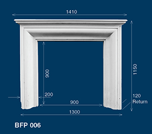 decorative plaster fireplace