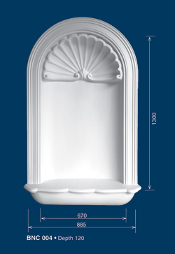 decorative plaster niches