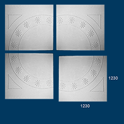 decorative plaster panel
